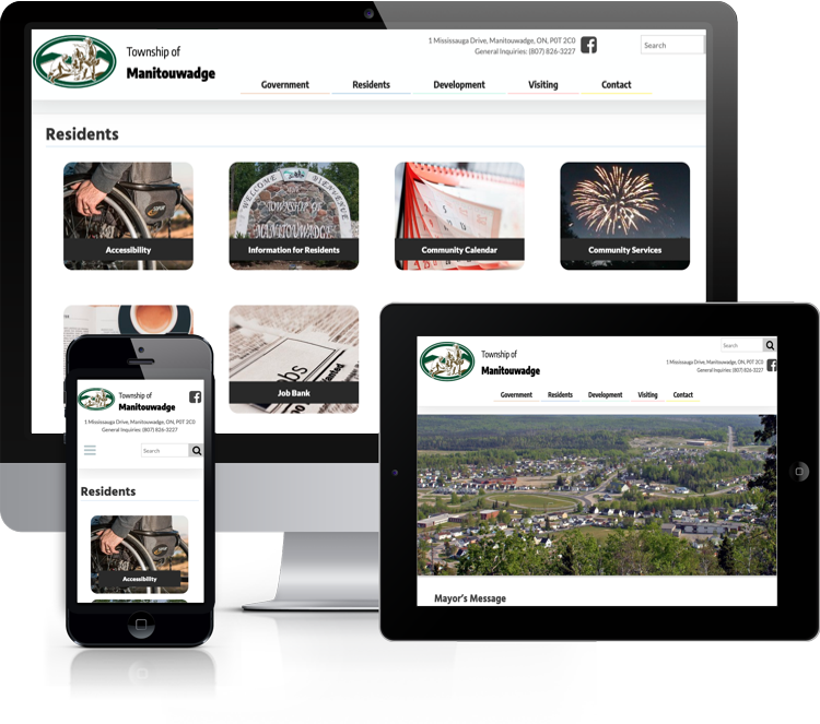 Website for the Township of Manitouwadge