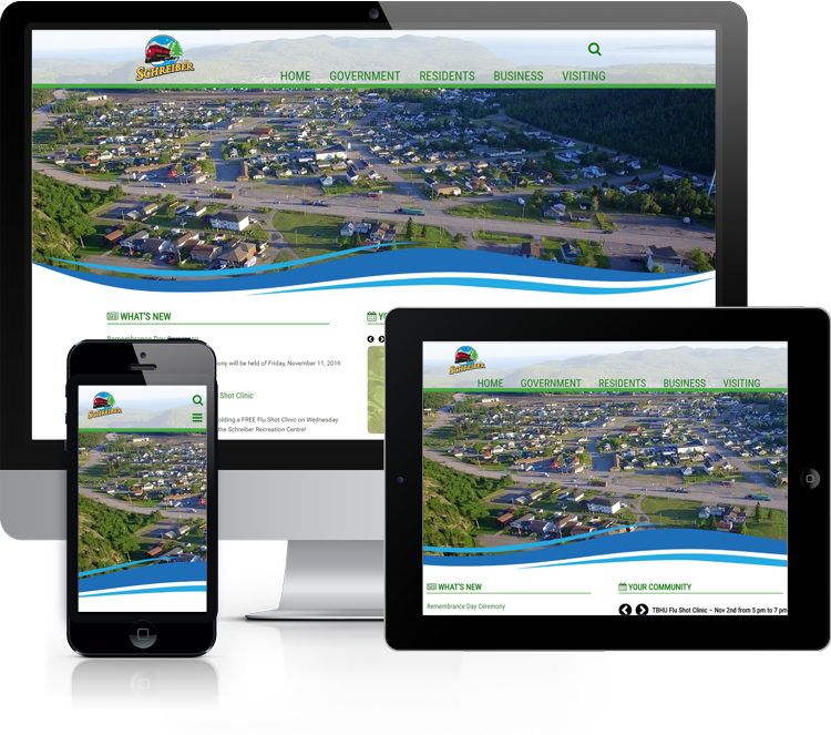 Website for the Township of Schreiber